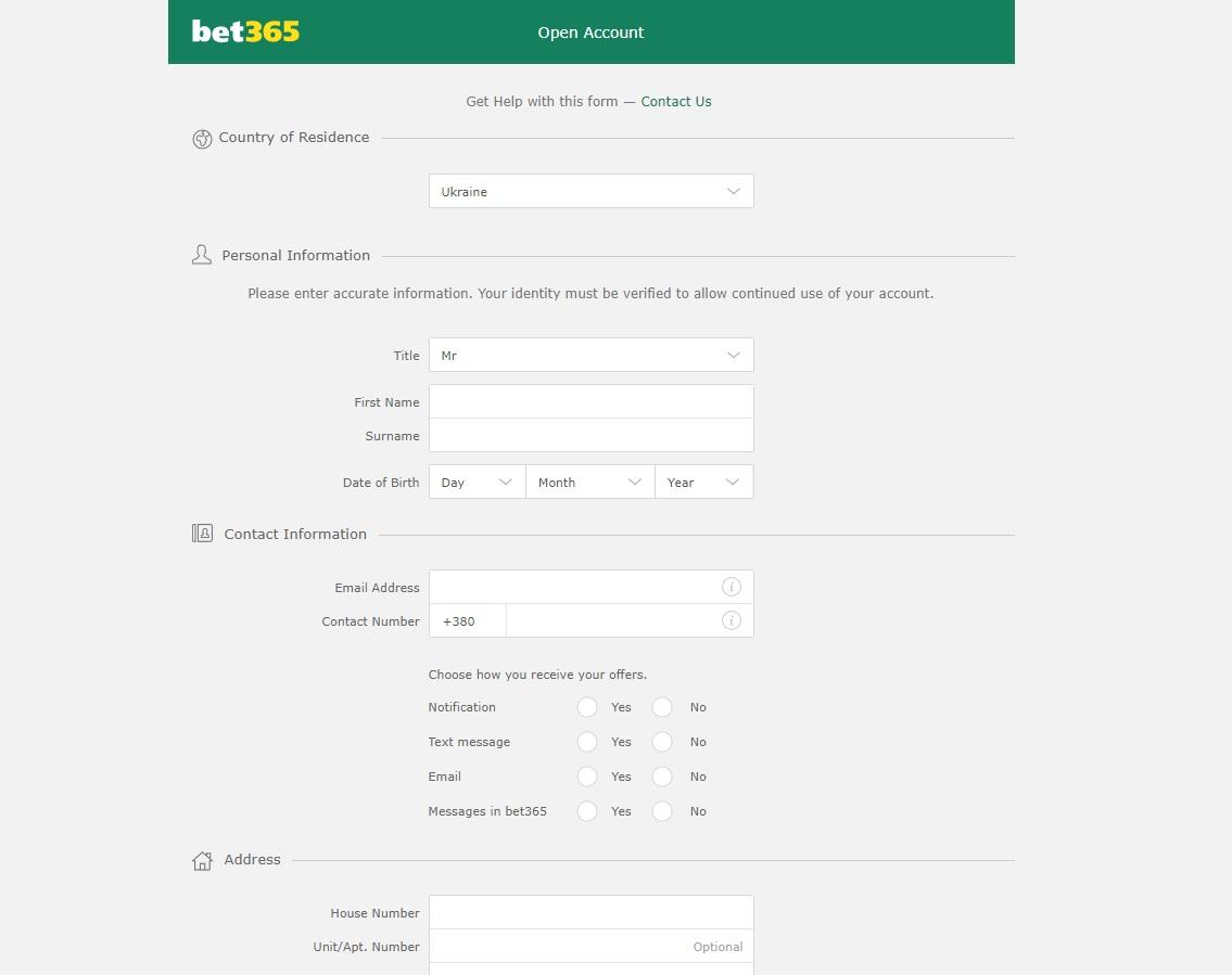 регистрация в бет 365